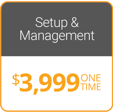 Set up and Management $2,999 One Time Fee